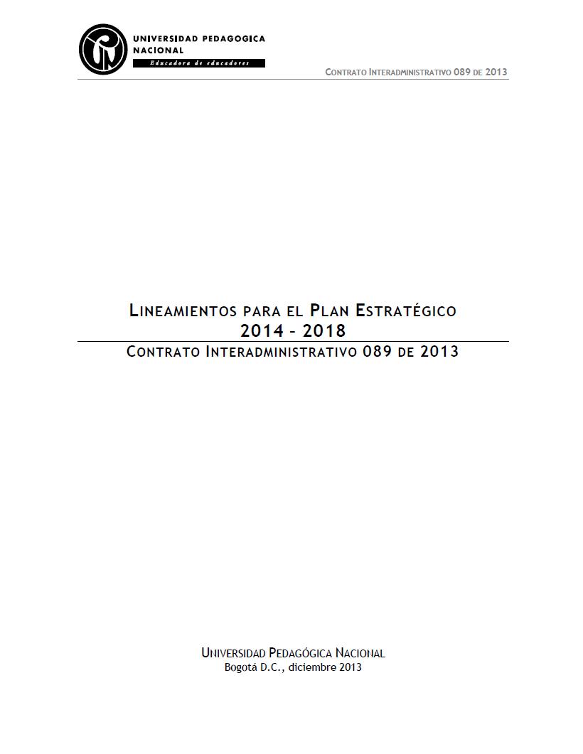 Imagen de apoyo de  Lineamientos para el Plan Estratégico 2014-2018