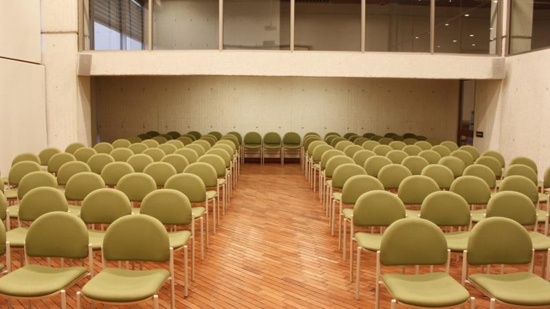 Imagen de apoyo de  Detalle del auditorio de la Biblioteca Pública Julio Mario Santo Domingo