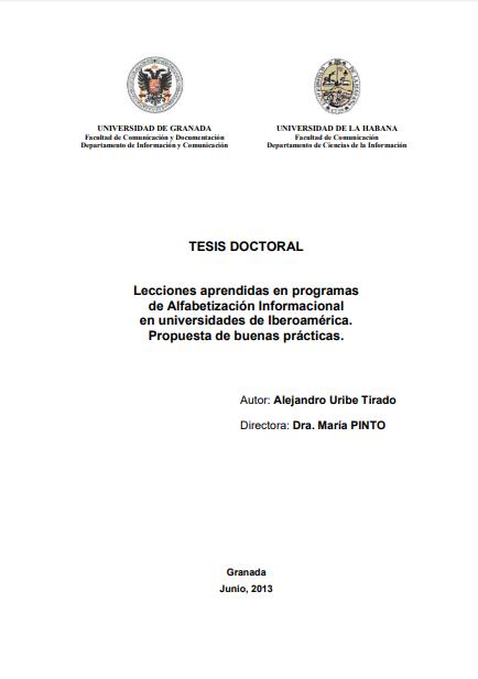 Imagen de apoyo de  Lecciones aprendidas en programas de alfabetización informacional en universidades de Iberoamérica. Propuesta de buenas prácticas.