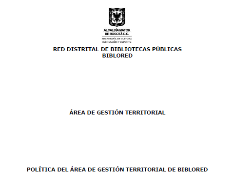 Imagen de apoyo de  Política del área de gestión territorial de BibloRed