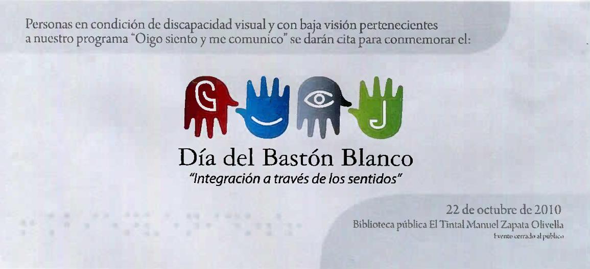 Imagen de apoyo de  Baner web para la celebración del Día del Bastón Blanco