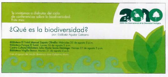Imagen de apoyo de  Pieza de divulgación de la conferencia ¿Qué es la biodiversidad?