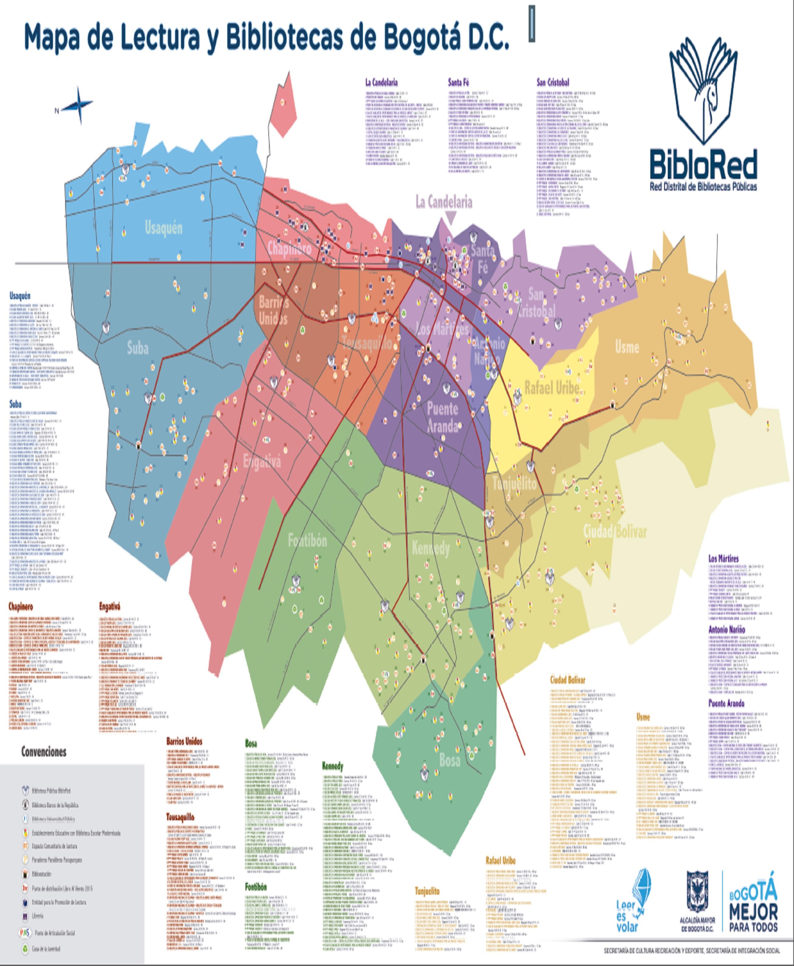 Imagen de apoyo de  Mapa de Lectura y Bibliotecas de Bogotá D.C.