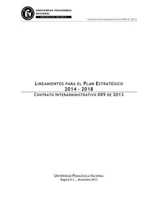 Lineamientos para el Plan Estratégico 2014-2018