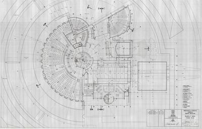 Planos de la planta del segundo nivel de la Biblioteca Pública Virgilio Barco