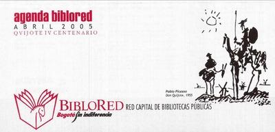 Agenda BibloRed Abril 2005. Quijote IV Centenario