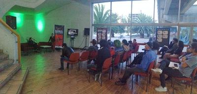 """Conferencia """"La radio pública y el rock en Colombia durante la década de 1990"""" realizada por José Perilla en la Biblioteca Pública El Tintal Manuel Zapata Olivella el 4 de julio de 2019"""