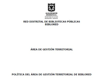 Política del área de gestión territorial de BibloRed