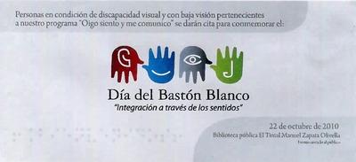 Baner web para la celebración del Día del Bastón Blanco