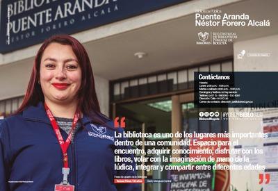 Brochure Biblioteca Pública Puente Aranda Néstor Forero Alcalá