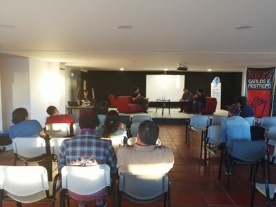 """Conferencia """"Revistas musicales y rock en Colombia durante la década de 1990"""", realizada por Ricardo Durán en la Biblioteca Pública El Restrepo el 15 de julio de 2019"""