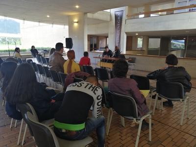 """Conferencia """"Los antecedentes de Rock al Parque: años 80"""", realizada por Pepe Plata en la Biblioteca Pública Virgilio Barco el 10 de julio de 2019"""
