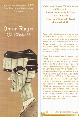 Exposición de caricaturas de Omar Rayo