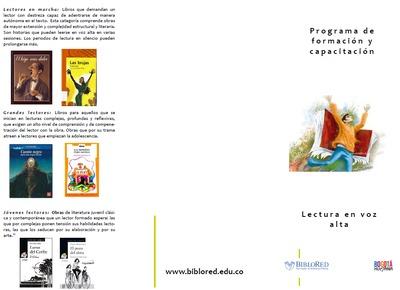 Programa de formación y capacitación: lectura en voz alta