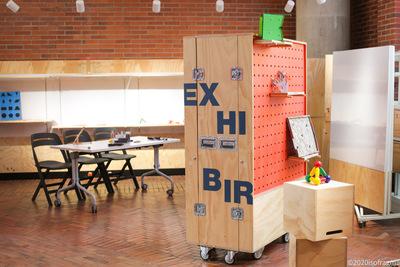 Módulo de exhibición de la Sala LabCo: espacio abierto experimental