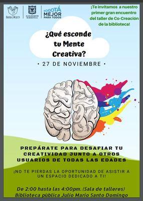 Laboratorio co-creación en la Biblioteca Pública Julio Mario Santo Domingo