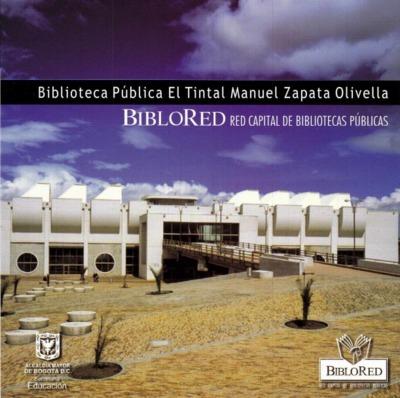 Plegable informativo de la Biblioteca Pública El Tintal Manuel Zapata Olivella