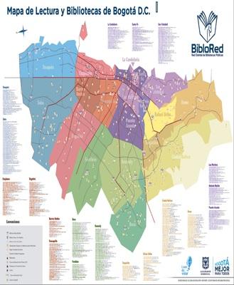 Mapa de Lectura y Bibliotecas de Bogotá D.C.