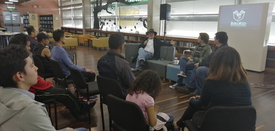 """Conferencia """"Los antecedentes de Rock al Parque: años 80"""", realizada por Pepe Plata en la Biblioteca Pública El Tunal Gabriel García Márquez el 27 de julio de 2019"""