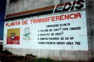 Diagnóstico del estado actual de la planta de transferencia de basuras